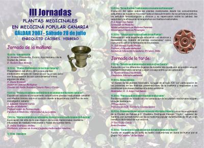 PONENCIAS DE LAS III JORNADAS DE PLANTAS MEDICINALES